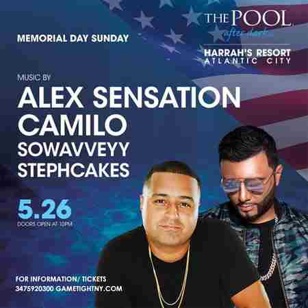 Dj Camilo & Alex Sensation MDW 2019 Harrahs Pool Party in Atlantic City in Atlantic City on 26 May