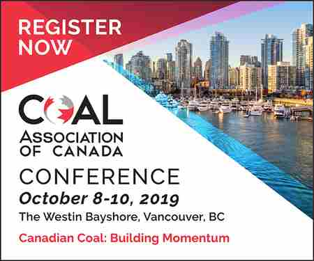 Coal Association of Canada National Conference, Vancouver 2019 in Vancouver on 8 Oct