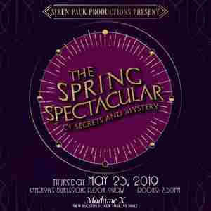 The Spring Spectacular of Secrets & Mystery | 5/23/19 -7:30PM | Madame X in New York on Thursday, May 23, 2019