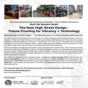 RAIC+CNV Best High Street Design-Future Proofing for Vibrancy+Technology in North Vancouver on Wednesday, May 29, 2019