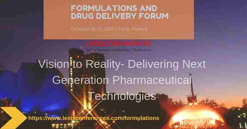 Formulations and Drug Delivery Forum in Paris on 7 May