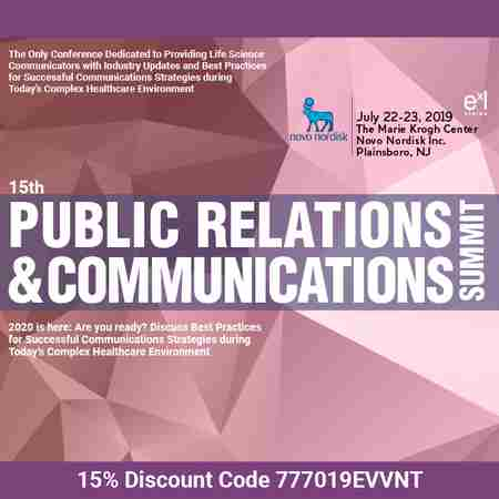 15th Public Relations & Communications Summit in Plainsboro Township on 22 Jul