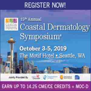 15th Annual Coastal Dermatology Symposium in Seattle on 3 Oct