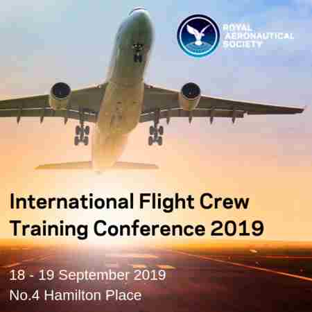 International Flight Crew Training Conference, London, 18-19 September 2019 in London on 18 Sep
