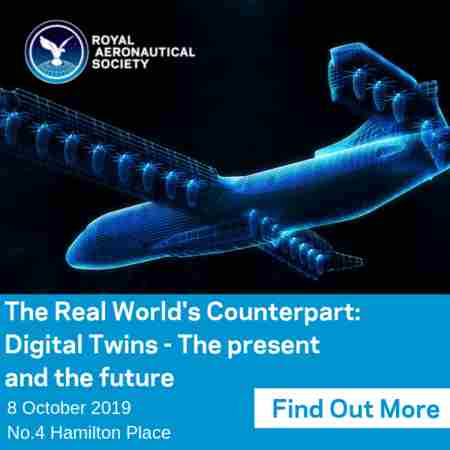 The Real World's Counterpart: Digital Twins RAeS in London, 8 October 2019 in London on 8 Oct