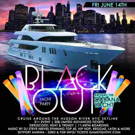 NYC Blackout Yacht Party Cruise at Skyport Marina Cabana Yacht 2019 in New York on Friday, June 14, 2019