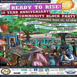 Ready to Rise Summer Block Party in Brooklyn on 15 Jun