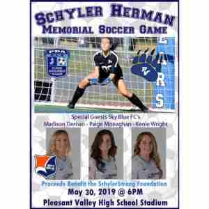 Schyler Herman Memorial Soccer Game in Brodheadsville on 30 May