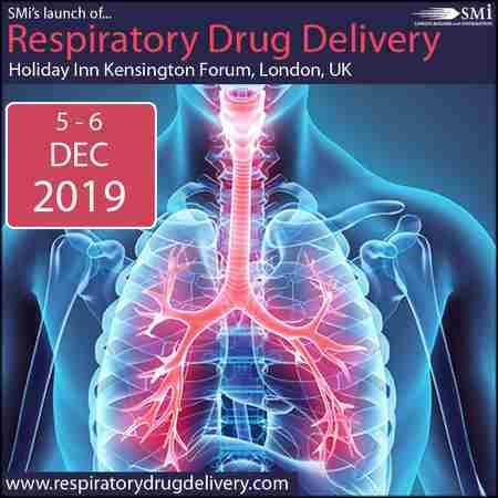 SMi's Inaugural Conference: Respiratory Drug Delivery 2019 in London on 5 Dec