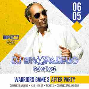 Snoop Dogg AKA DJ Snoopadelic LIVE - GAME 3 NBA FINALS AFTER PARTY in Oakland on 5 Jun