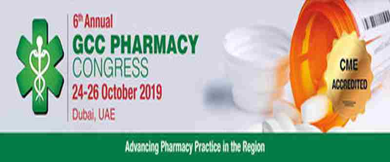 The 6th Annual GCC Pharmacy Congress in Dubai on 24 Oct