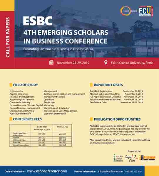 4th Emerging Scholars in Business Conference (ESBC)