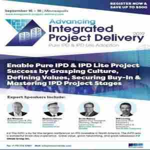 Advancing Integrated Project Delivery 2019 in Minneapolis on 16 Sep