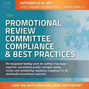 7th Promotional Review Committee Compliance and Best Practices in Morristown NJ on 23 Sep