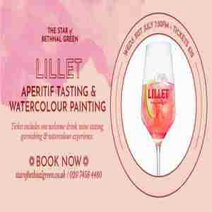 Lillet Wine Tasting & Watercolour Painting in London on 1 Aug