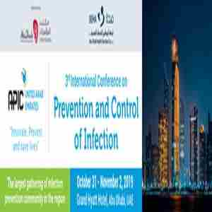 3rd International Conference on Prevention and Control of Infection in Abu Dhabi on 31 Oct