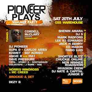 Pioneer Plays Summer Party with special guest Cordell McClary in London on 20 Jul