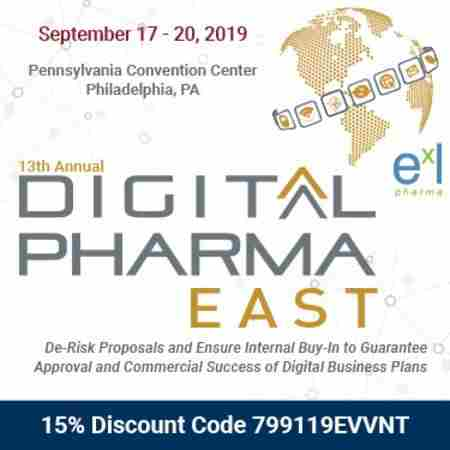 The 13th Digital Pharma East in Philadelphia on 17 Sep