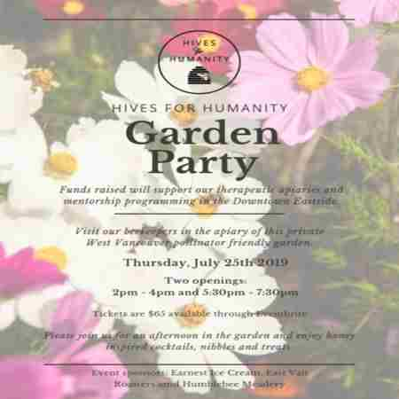 Hives for Humanity Garden Party in West Vancouver on Thursday, July 25, 2019