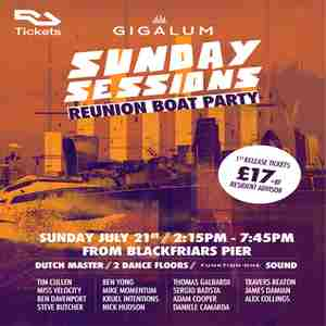 Gigalum Reunion Boat Party - Sunday Sessions - The Dutch Master in London on 21 Jul