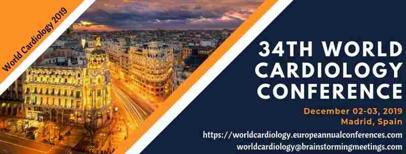 34th World Cardiology Conference in Madrid on 2 Dec