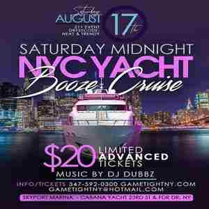New York City Saturday Midnight Yacht Party Booze Cruise at Skyport Marina in New York on Saturday, August 17, 2019