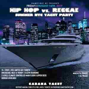 NYC Hip Hop vs. Reggae Summer Yacht Party Cruise 2019 in New York on 16 Aug