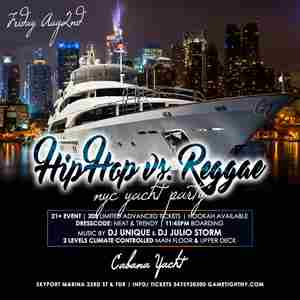 NYC Hip Hop vs. Reggae Summer Yacht Party at Skyport Marina Cabana in New York on Friday, August 2, 2019
