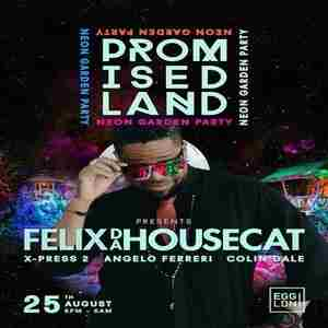 Promised land Neon Garden party w/ Filex Da Housecat in London on 25 Aug
