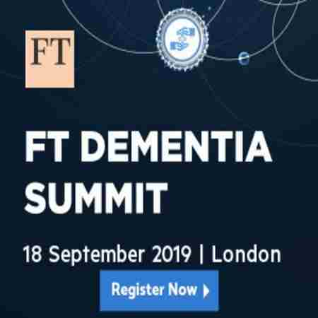 FT Dementia Summit in London on 18 Sep