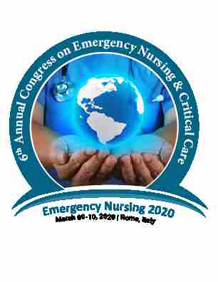 6th Annual Congress on Emergency Nursing and Critical Care in Rome on Monday, March 9, 2020