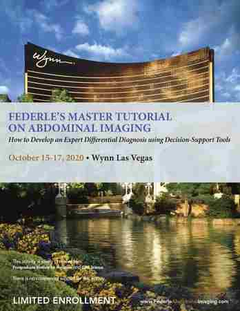 Federle's Master Tutorial on Abdominal Imaging in Las Vegas on 14 May