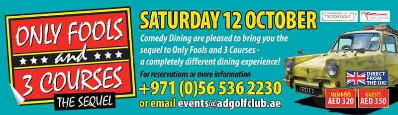 Only Fools and 3 Course The Sequel in Abu Dhabi on 12 Oct