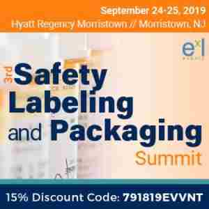 3rd Safety Labeling and Packaging Summit in Morristown on 24 Sep