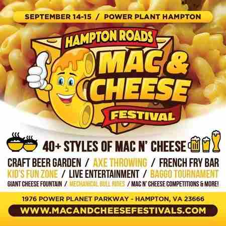 Hampton Road Mac and Cheese Festival in Virginia on Saturday, September 14, 2019