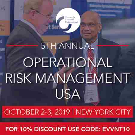 CeFPro 5th Annual Operational Risk Management - October 2-3, 2019 | NYC in New York on 2 Oct