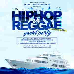 New York City Hip Hop vs. Reggae Summer Yacht Party at Skyport Marina in New York on 23 Aug