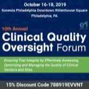 10th Clinical Quality Oversight Forum in Philadelphia on 16 Oct