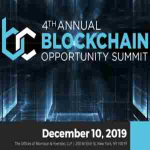 4th Annual Blockchain Opportunity Summit in New York on 10 Dec