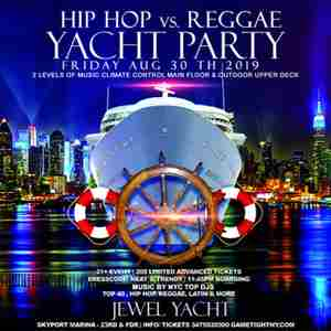 New York Hip Hop vs. Reggae Yacht Party at Skyport Marina Jewel Yacht 2019 in New York on 30 Aug