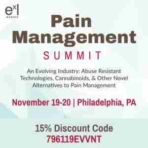 Pain Management Summit in Philadelphia on 19 Nov