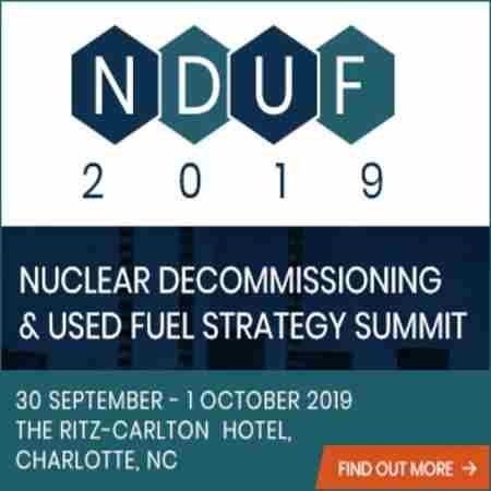 Nuclear Decommissioning and Used Fuel Strategy Summit 2019 in Charlotte on 30 Sep
