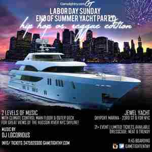 NYC Hip Hop vs. Reggae Labor Day Weekend Yacht Party 2019 in New York on Sunday, September 1, 2019