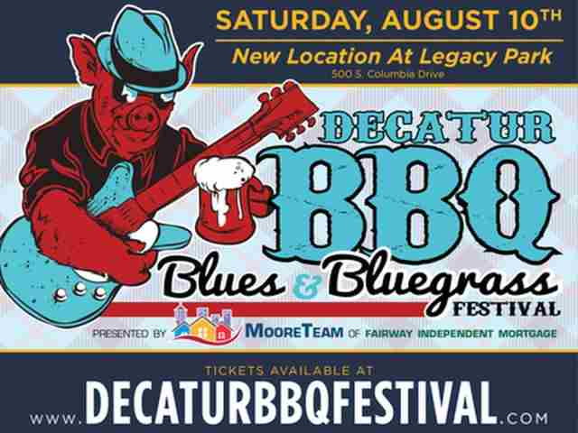Decatur BBQ Blues and Bluegrass Festival in Decatur on 10 Aug