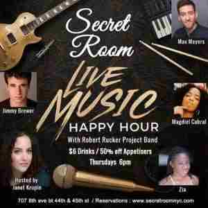 Live Music Happy Hour @ The New Secret Room NYC in New York on Thursday, August 1, 2019