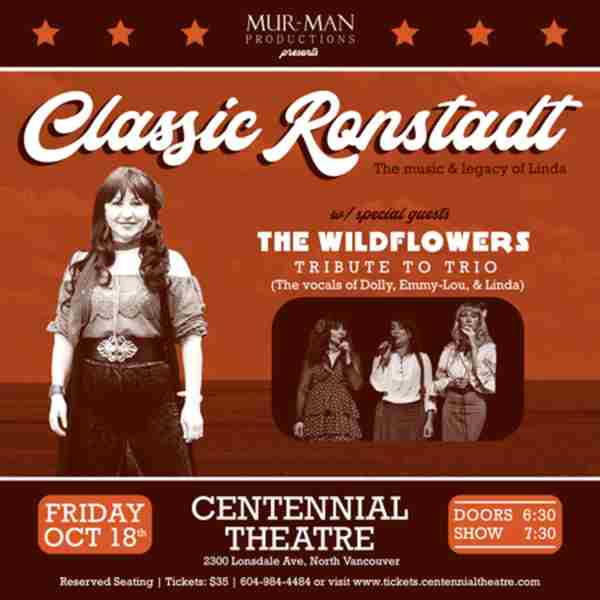 Classic Ronstadt - The Legacy & Music of Linda in North Vancouver on 18 Oct