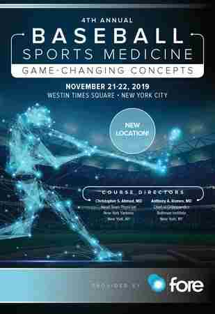 4th Annual Baseball Sports Medicine: Game Changing Concepts in New York on 21 Nov