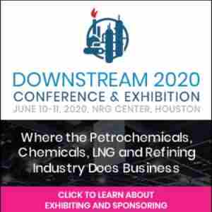 Downstream 2020 Exhibition and Conference in Houston on 10 Jun