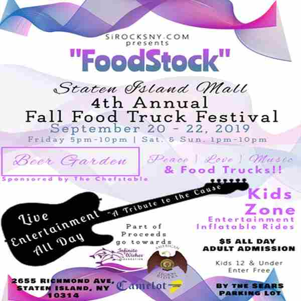"""Foodstock"" 4th Annual Staten Island Fall Food Truck Festival in Staten Island on Friday, September 20, 2019"