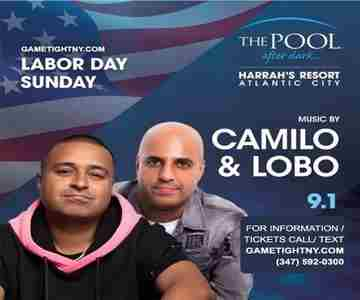 Dj Camilo & Dj Lobo Harrahs Pool Party Labor Day Sunday in Atlantic City on Sunday, September 1, 2019